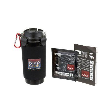 BAROCOOK - BC-004 - 400ml (Travel Mug/Café) Portable Flameless Heating System with Sleeve and heating packs