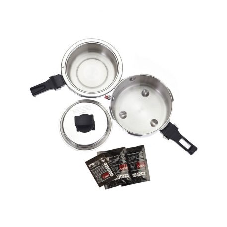 BAROCOOK - BC-009 - 1400ml (Pressure Pot - With Lid) Flameless PRESSURE Cooking System - assembled with all accessories