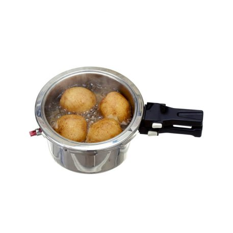 BAROCOOK - BC-009 - 1400ml (Pressure Pot - With Lid) Flameless PRESSURE Cooking System - in action (boiling potatoes)