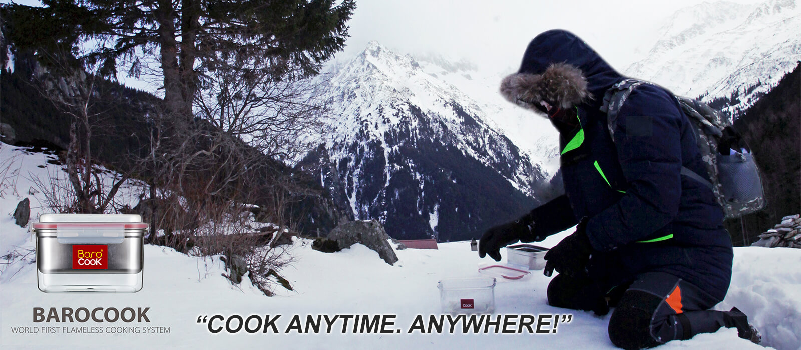Barocook - Cook anytime, anywhere. Snow and Mountains.
